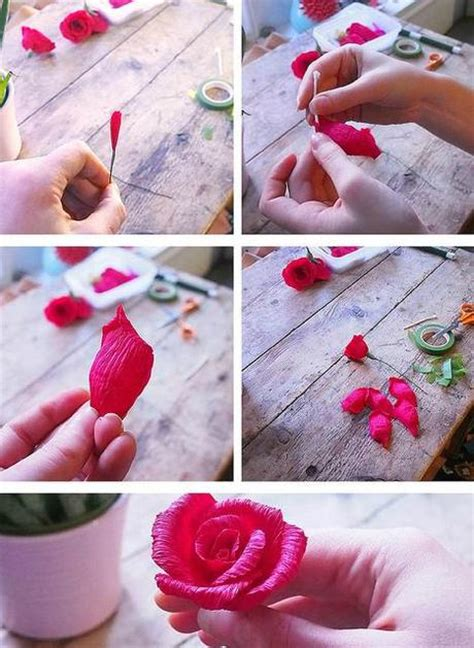 How To Make Crepe Paper Roses Step By Step - crepe paper wreath tutorial from dennis