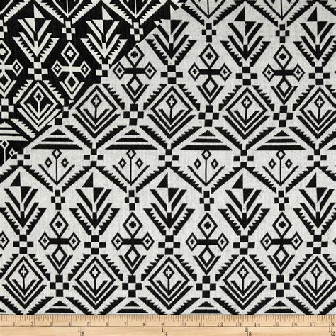 black and white aztec pattern fabric aslan jacquard aztec black white discount designer