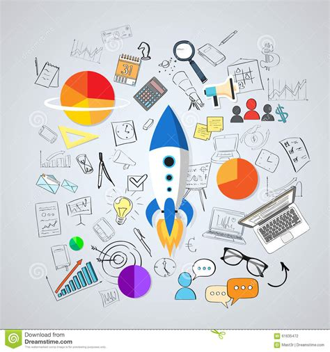 how to start a doodle start up concept new business plan doodle stock