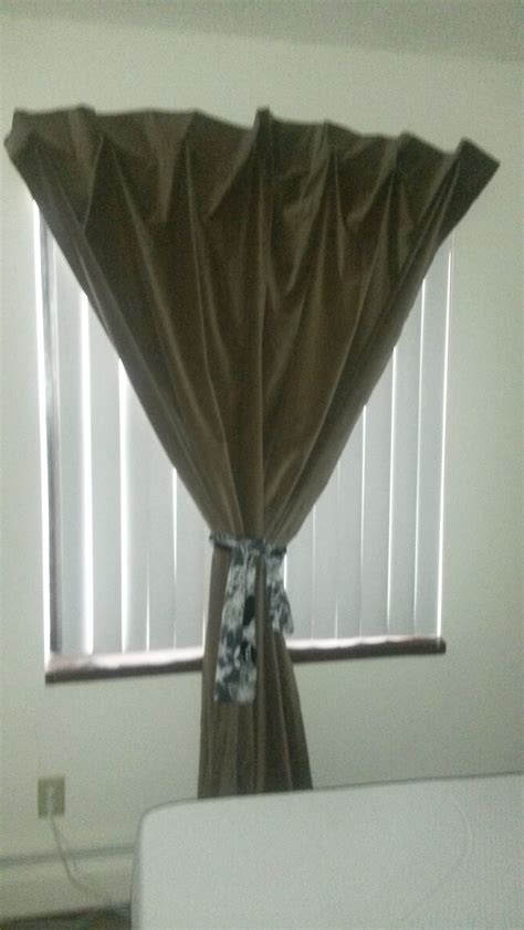 Curtains Without Rods Hanging A Curtain Without A Curtain Rod Skywaymom