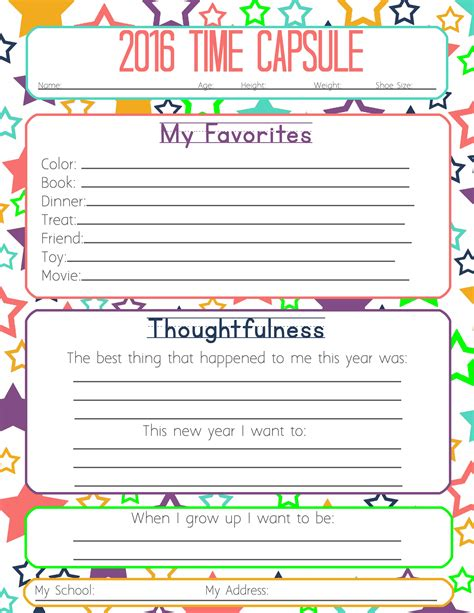 Time Capsule Essay by Search Results For New Years Worksheets For 2015 Calendar 2015