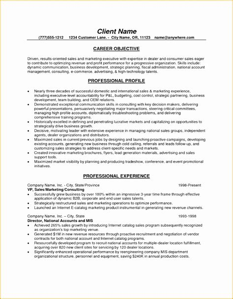 marketing executive resume objective 28 images marketing director resume exles resume ideas