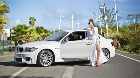 white girly cars car bmw model dress white wallpaper 4096x2290