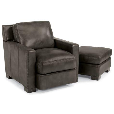 Flexsteel Latitudes Blake Contemporary Chair And Ottoman Flexsteel Chair And Ottoman