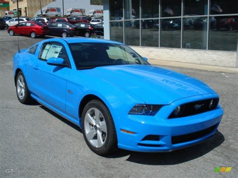 2013 grabber blue mustang gt grabber blue 2013 ford mustang gt coupe exterior photo