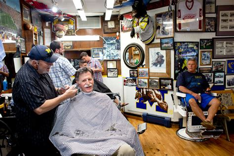 haircuts ann arbor buzzing about jim harbaugh while cutting hair in ann arbor