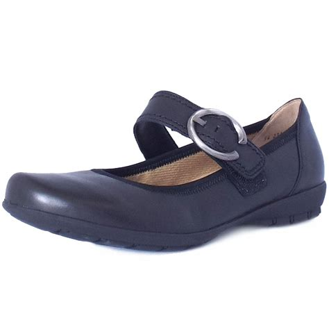 comfortable mary jane flats gabor biss comfortable mary jane flats in black mozimo