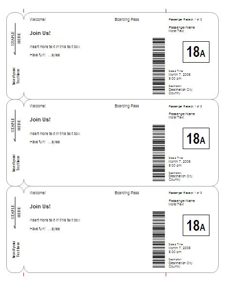 301 Moved Permanently Boarding Pass Invitation Template Free