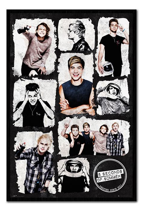 5sos Official Band Poster 5 Seconds Of Summer Iphone All Hp framed 5 seconds of summer 5sos derping since 2011 poster new