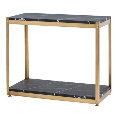 black marble end table furniture of america reymond weathered industrial brown