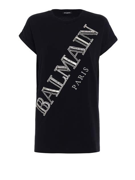 T Shirt Precious Precious Logo Cotton T Shirt By Balmain T Shirts Ikrix