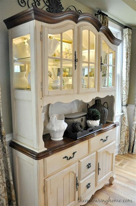 ideas  china cabinet painted  pinterest