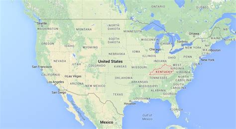 kentucky usa map where is kentucky on usa map world easy guides