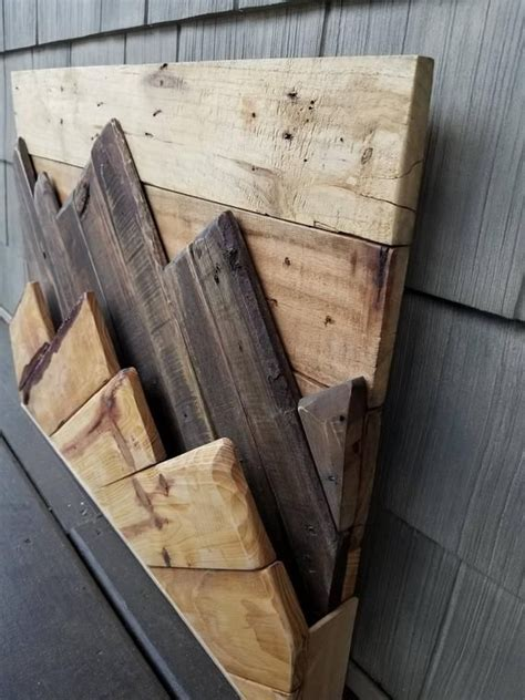 layered mountain pallet wood wall art wood projects