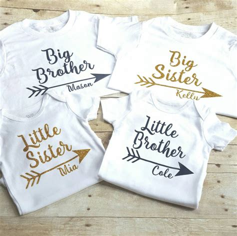 theme names for siblings set of four personalized sibling shirts big brother little