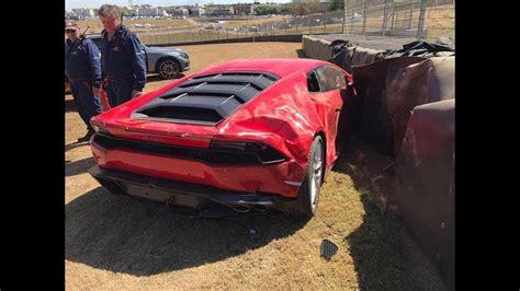 crashed lamborghini huracan lamborghini huracan crash at kyalami race track