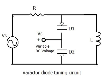 diode biasing circuit varactor diode frequency multiplier and tuner application