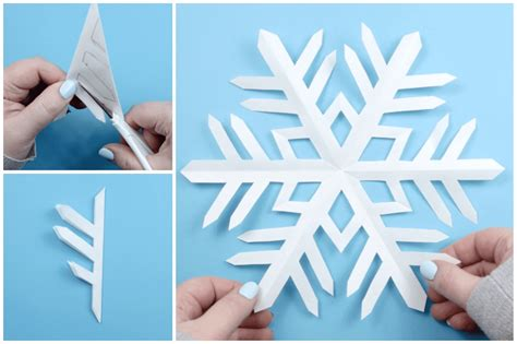 How To Make Construction Paper Snowflakes - how to make an origami snowflake images craft decoration