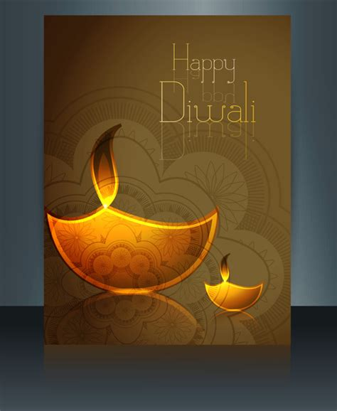 diwali card templates free happy diwali celebration brochure card template reflection