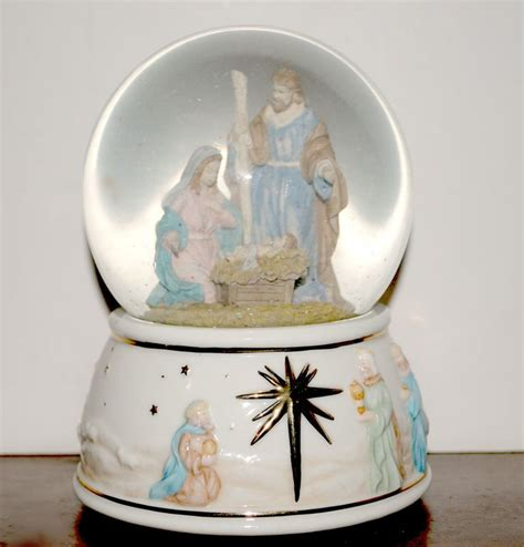 musical snow globes sale nativity music box snow globe o