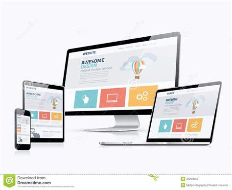 html design concepts flat responsive web design concept website development