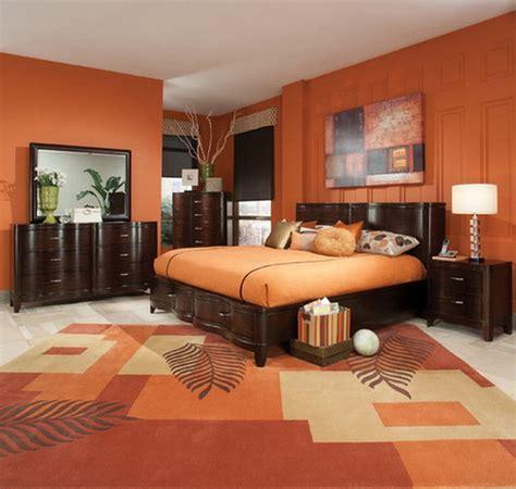 orange color bedroom ideas glif org orange bedroom ideas with dark brown furniture design