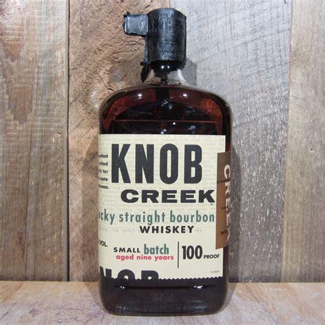 knob creek bourbon 750ml oak and barrel