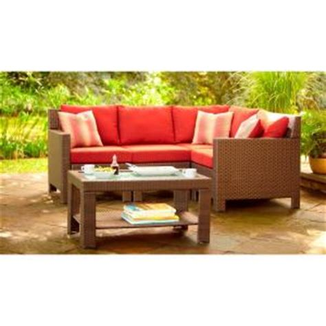 home depot outdoor sectional hton bay beverly 5 piece patio sectional seating set