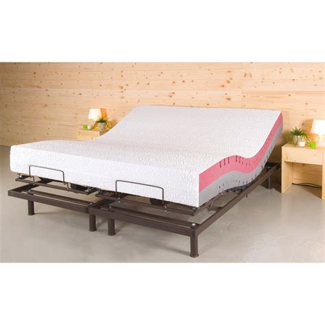 King Size Bed Split Mattress by Techno Motion 10 Inch Split King Size Adjustable Mattresses Set With Two Techno Pillows