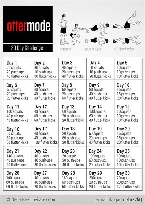 ottermode challenge workout by neila getting fit