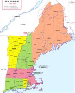 Where Is New England On The Map by Hisatlas Map Of New England 1785 2008