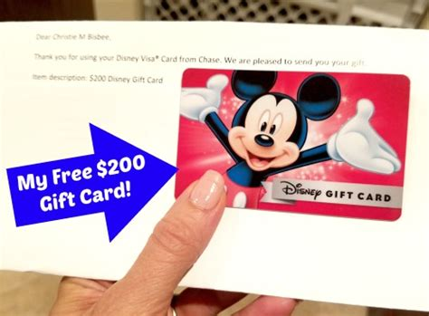 Disney Gift Card - freebies