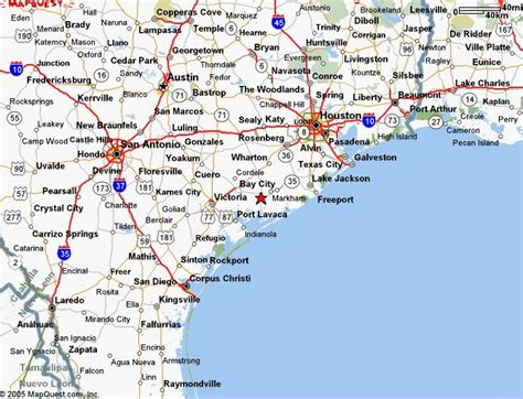 map of south texas cities southeast texas map