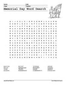 memorial day word search free printable