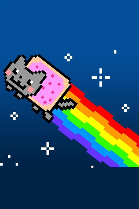 nyan cat wallpaper iphone nyan cat iphone background www imgkid com the image