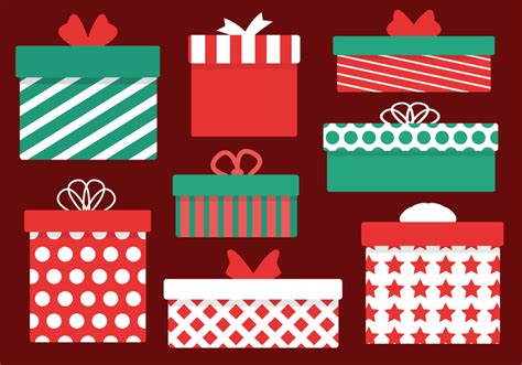 free christmas presents vector download free vector art