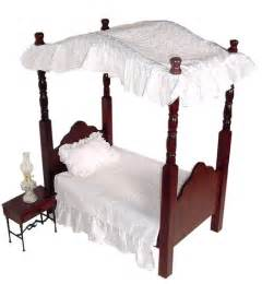 Doll Canopy Bed Bedding Doll Bedding American Doll Beds And Doll Furniture