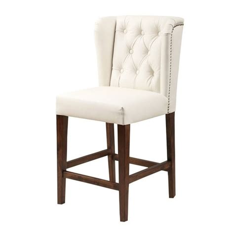 ivory leather bar stools abbyson living monica pedersen 30 quot leather bar stool in