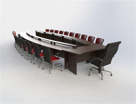 Revit Conference Table Conference Table Set Stl Step Iges Solidworks 3d Cad Model Grabcad