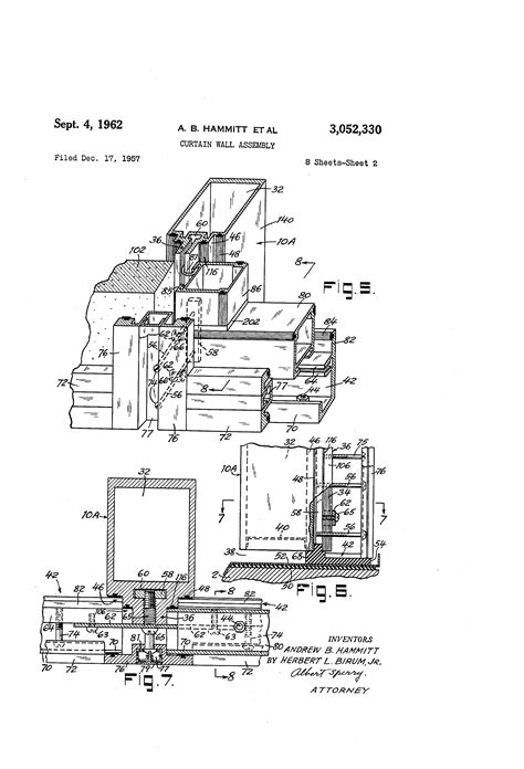 cupples curtain wall patent us3052330 curtain wall assembly google patents