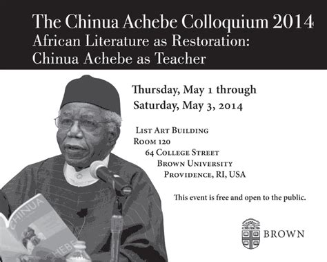 themes african literature the chinua achebe colloquium 2014 african lit as