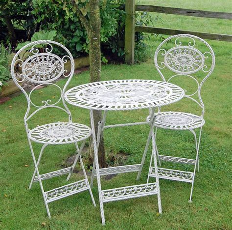 small metal table small metal garden table and chairs outdoor folding metal