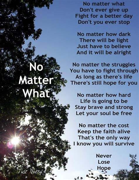 no matter i will always you no matter what poems www pixshark