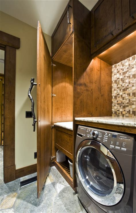 Rustic Laundry Room Decor Okanagan Log Home Rustic Laundry Room Other Metro By Sticks And Stones Design Inc
