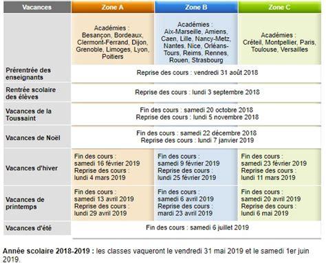 Calendrier ã E 2019 Calendrier Scolaire Les Dates Des Vacances Scolaires