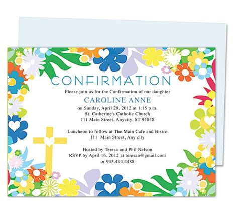confirmation invitation cards template 42 best sacrament of confirmation images on