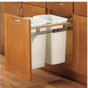 Kitchen Cabinet Trash Pull Out Trash Can Pull Out For 21 Inch Cabinet
