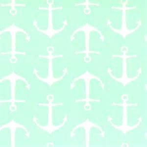 P Kaufmann Upholstery Fabric Sailor Mint Twill Anchor Print Drapery Fabric By Premier