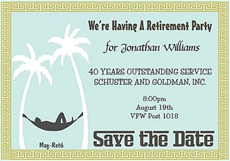 8 Best Images Of Save The Date Retirement Templates Retirement Save The Date Template