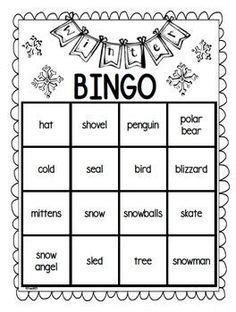 winter bingo card template winter free create your own luck bingo this resource